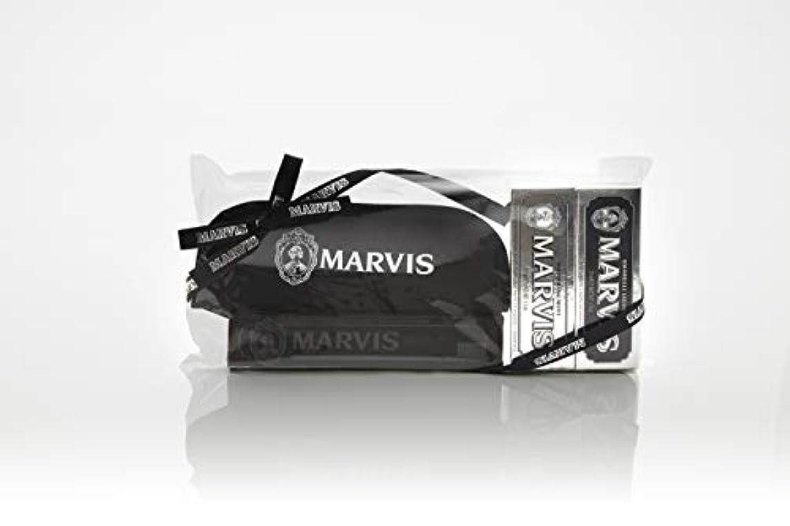 迅速竜巻簡単なMARVIS(マービス) トラベル?セットDouble Flavors (歯みがき粉?歯ブラシ?ポー