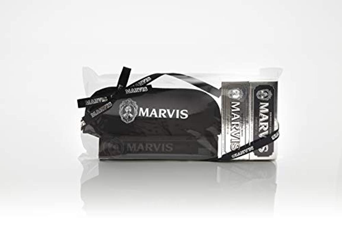 収容する牛予報MARVIS(マービス) トラベル?セットDouble Flavors (歯みがき粉?歯ブラシ?ポー