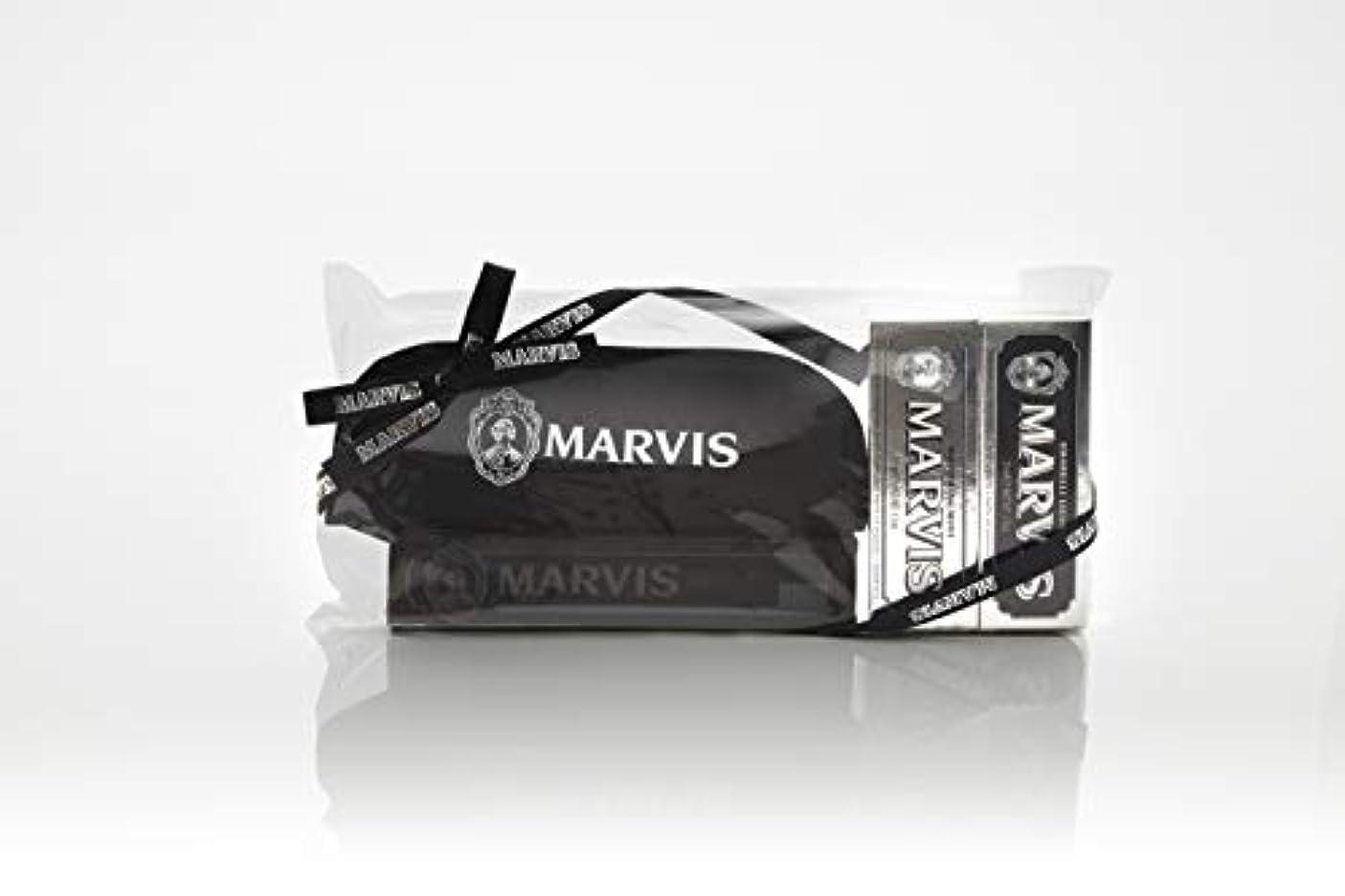 一人で遠えデータMARVIS(マービス) トラベル?セットDouble Flavors (歯みがき粉?歯ブラシ?ポー