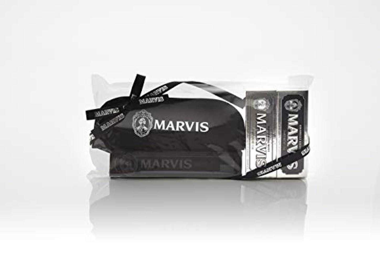 と背の高い息苦しいMARVIS(マービス) トラベル?セットDouble Flavors (歯みがき粉?歯ブラシ?ポー