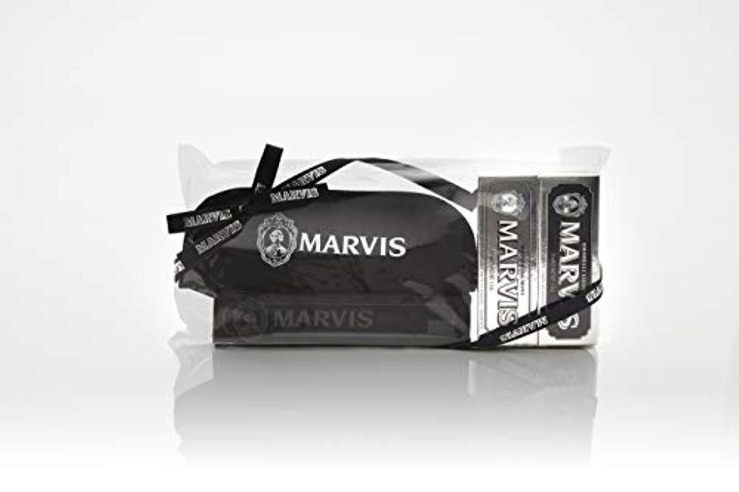 メンダシティ呼びかけるガジュマルMARVIS(マービス) トラベル?セットDouble Flavors (歯みがき粉?歯ブラシ?ポー