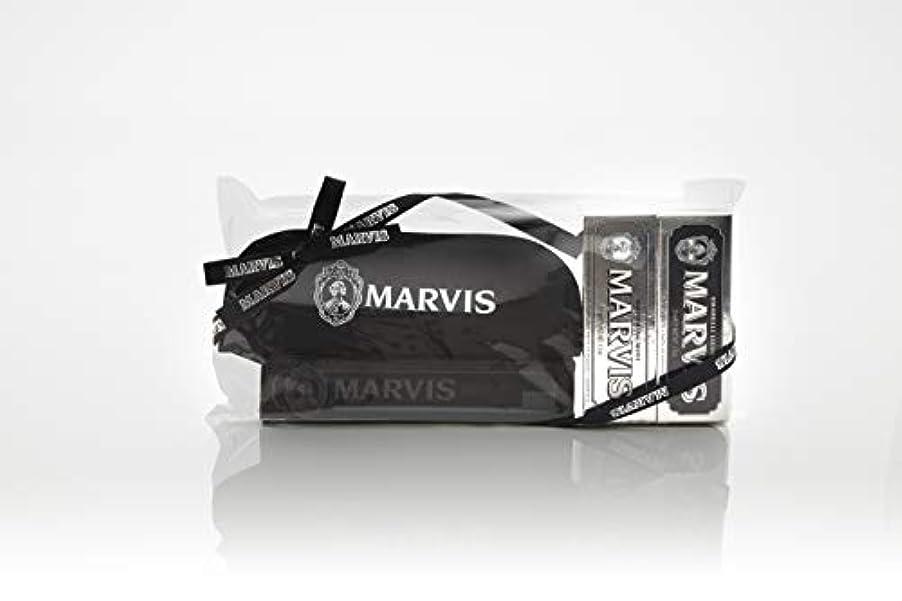 パンダぎこちない意図するMARVIS(マービス) トラベル?セットDouble Flavors (歯みがき粉?歯ブラシ?ポー