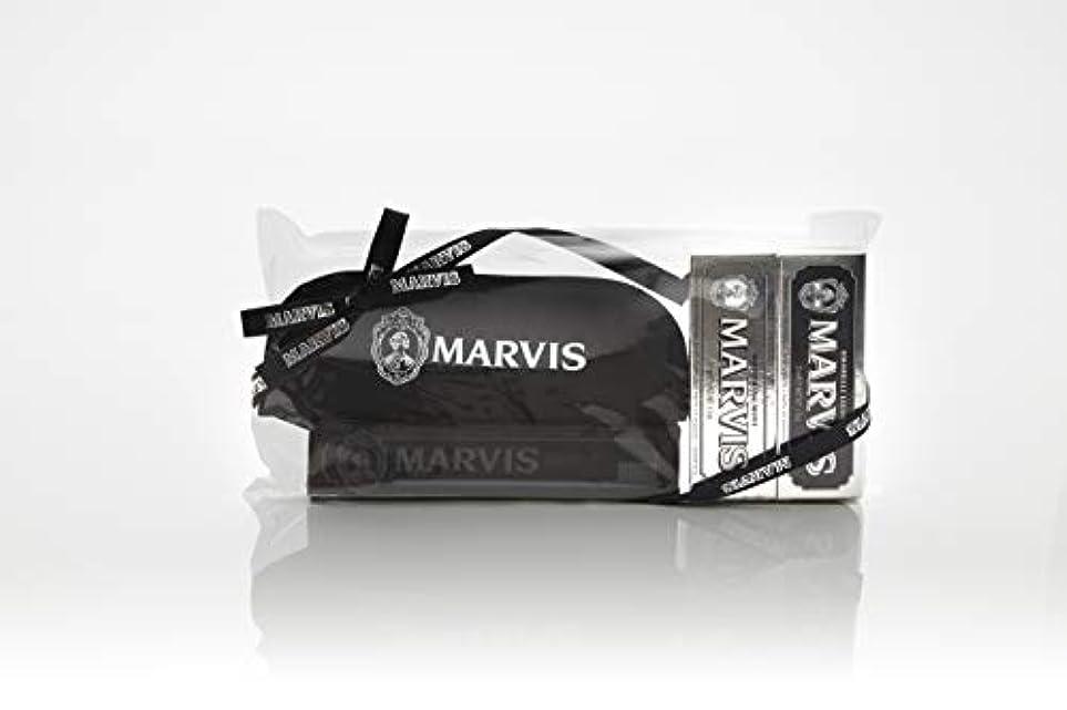 音楽を聴く珍しいそこからMARVIS(マービス) トラベル?セットDouble Flavors (歯みがき粉?歯ブラシ?ポー