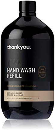 Thankyou Hand Wash Refill Botanical Sweet Orange and Almond, 1L (more options available)