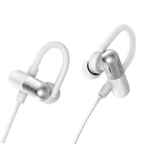 日本  メーカー1年保証 / QCY QY11 白黒2色 耳かけイヤーフック型 Bluetooth 4.1 ワイヤレスイヤホン マイク内蔵 ハンズフリー 通話 APT-X CSR 8645 CVC6.0 ノイズキャンセリング搭載 防水 / 防汗 高音質スポーツイヤホン 技適認証済   ホワイト