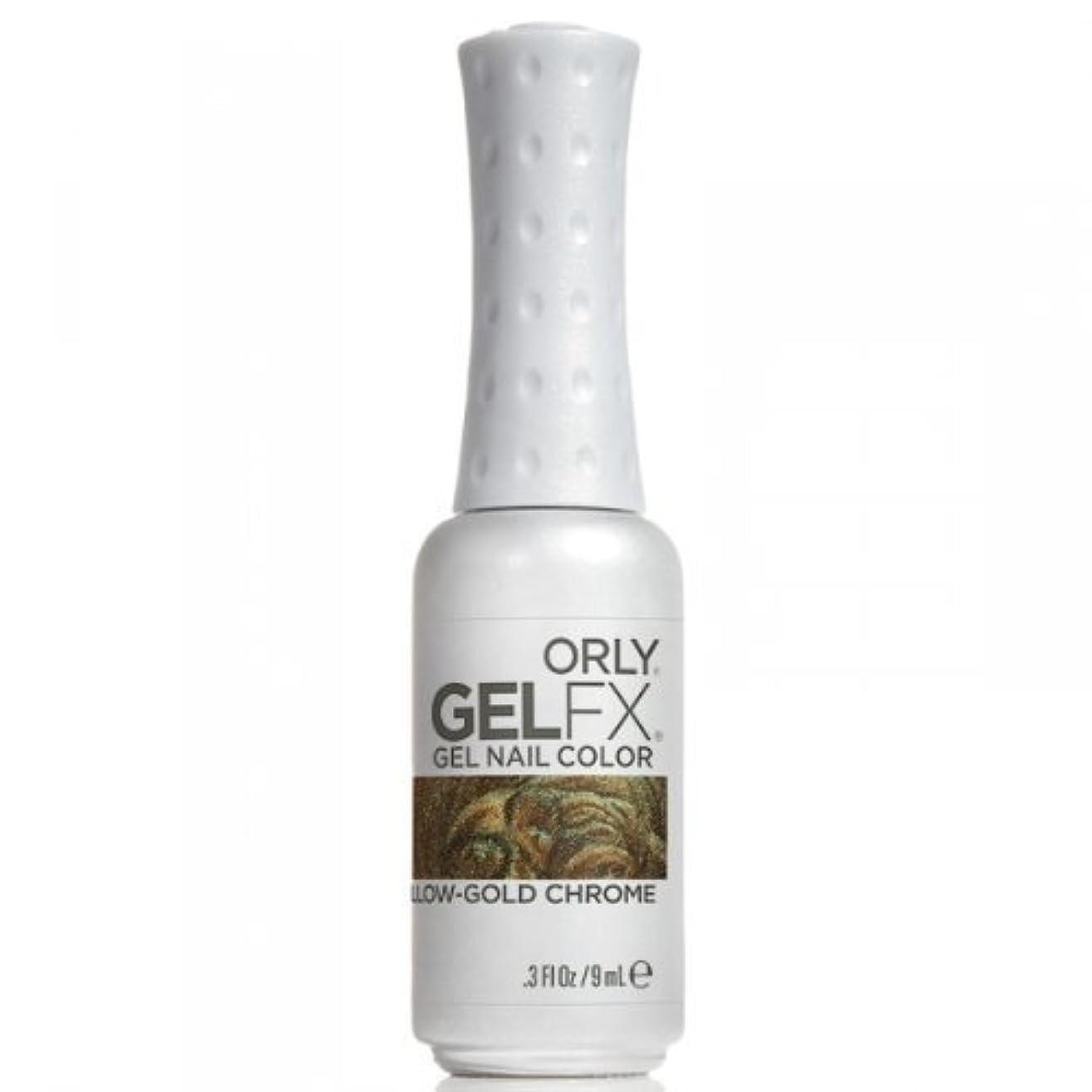 二週間単なるアクセスOrly GelFX Gel Polish - Yellow-Gold Chrome - 0.3oz / 9ml