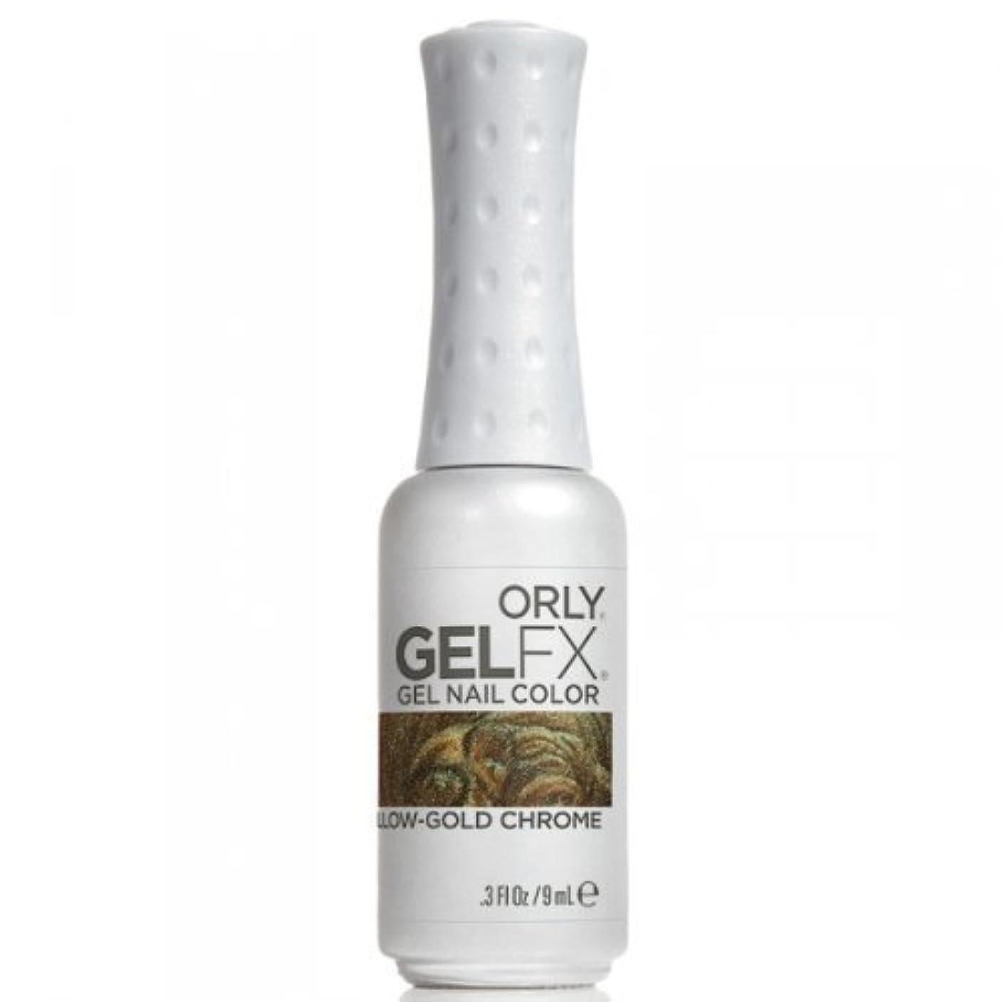 時系列レクリエーションフォアマンOrly GelFX Gel Polish - Yellow-Gold Chrome - 0.3oz / 9ml