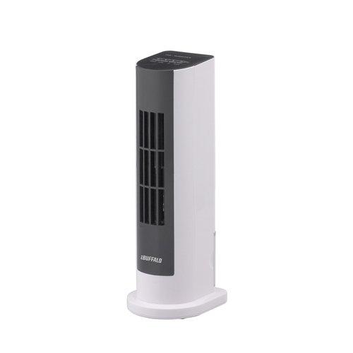 iBUFFALO USB冷風扇風機 タワータイプ 加湿機能付 風力2段階調節 ホ...