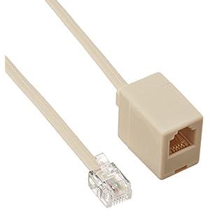 SANWA SUPPLY 電話線延長ケーブル 5m TEL-EX8-5K