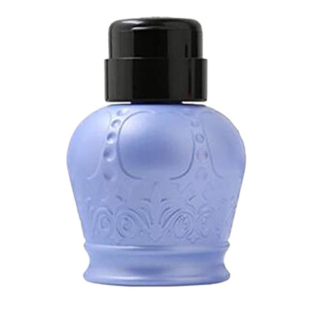 不従順一杯シンポジウムgazechimp 全2カラー ネイルアート用ディスペンサー アクリルリムーバーボトル ポンプボトル - ブルー