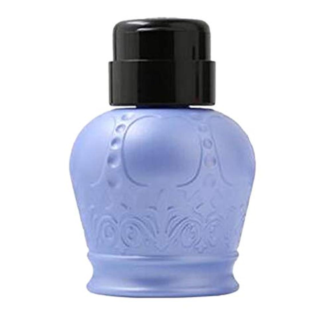 意見登録するへこみgazechimp 全2カラー ネイルアート用ディスペンサー アクリルリムーバーボトル ポンプボトル - ブルー