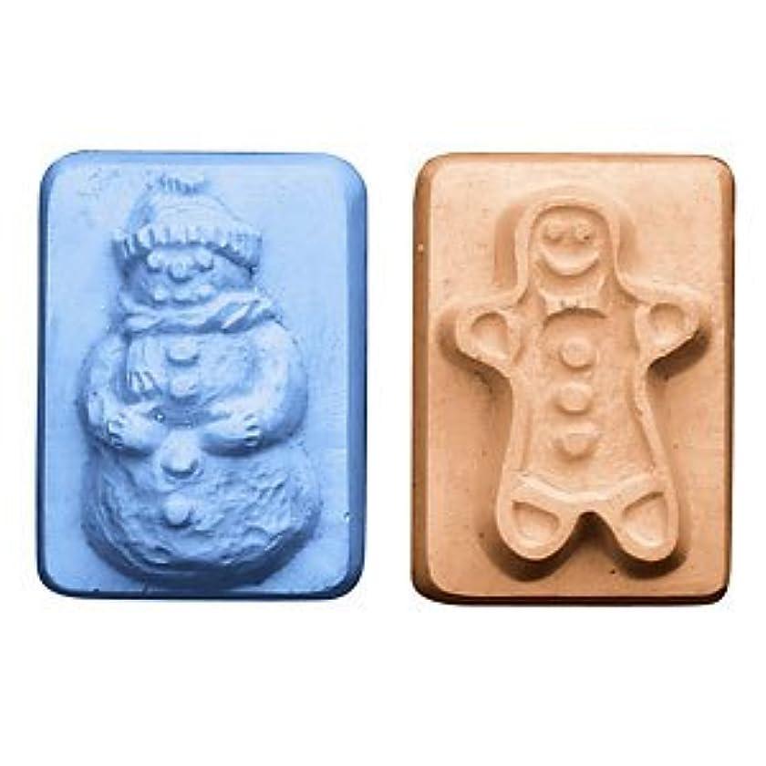 宗教的な謎緊急ミルキーウェイ スノーマン&ジンジャーマン 【ソープモールド/石鹸型/シートモールド】