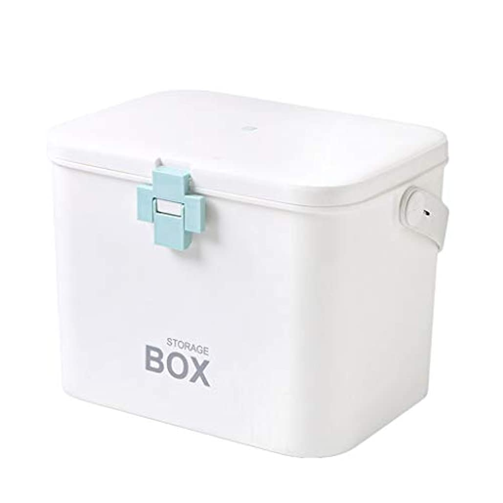 こする作家ピストル応急処置薬箱家庭用薬品収納ボックス子供大型ポータブル医療緊急医療キット31 * 20 * 22 cm ZHAOSHUNLI (Color : Blue)