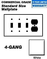 Leviton 4-gang 3-toggle 1-duplexデバイス組み合わせ壁材、熱可塑性ナイロン、デバイスマウント 10 Pack ホワイト 80743-W 10