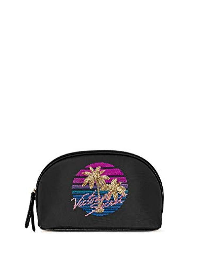 宿命習熟度矩形Victoria's Secret ヴィクトリアシークレット VS パームツリー トラベル用 ビッグ 化粧ポーチ
