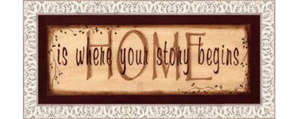 どれでもドレインリーズHome Is Where Your Story Begins by Kim Klassen – 20 x 8インチ – アートプリントポスター LE_211541-F9711-20x8