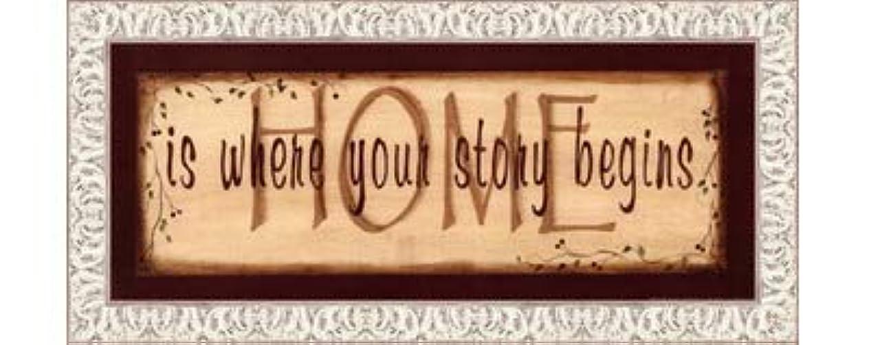 バッジ薬理学時間とともにHome Is Where Your Story Begins by Kim Klassen – 20 x 8インチ – アートプリントポスター LE_211541-F9711-20x8