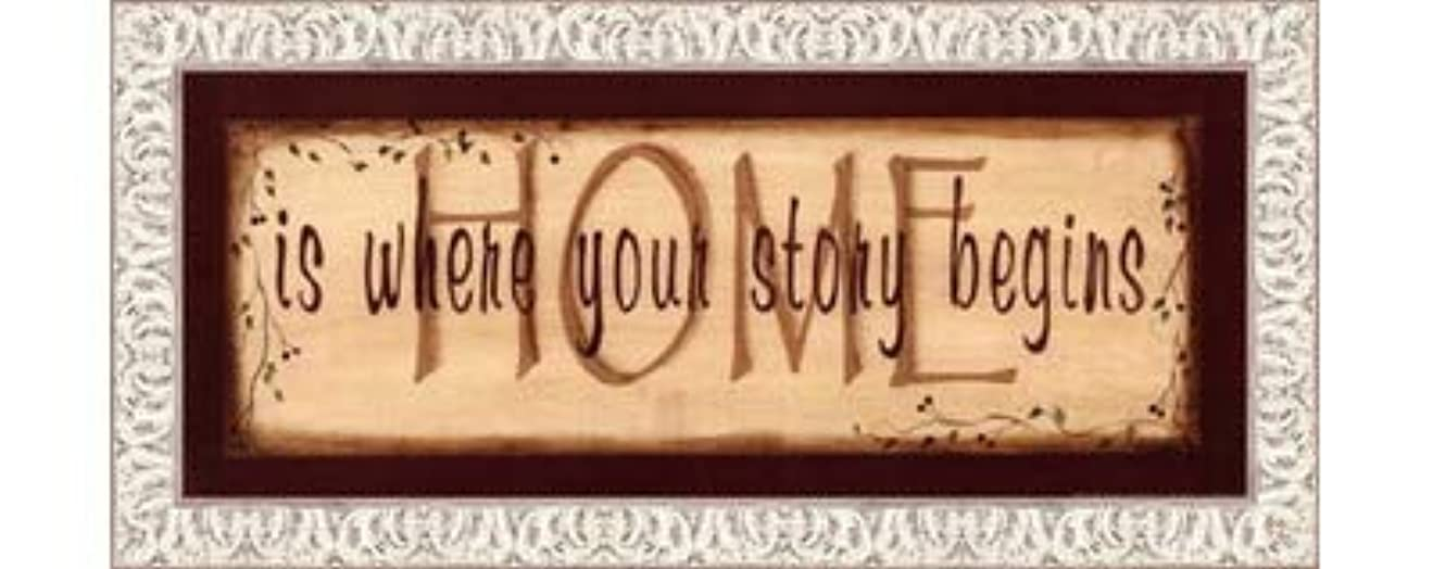 自分の力ですべてをする解釈概要Home Is Where Your Story Begins by Kim Klassen – 20 x 8インチ – アートプリントポスター LE_211541-F9711-20x8