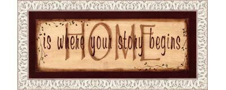 肌モード和らげるHome Is Where Your Story Begins by Kim Klassen – 20 x 8インチ – アートプリントポスター LE_211541-F9711-20x8