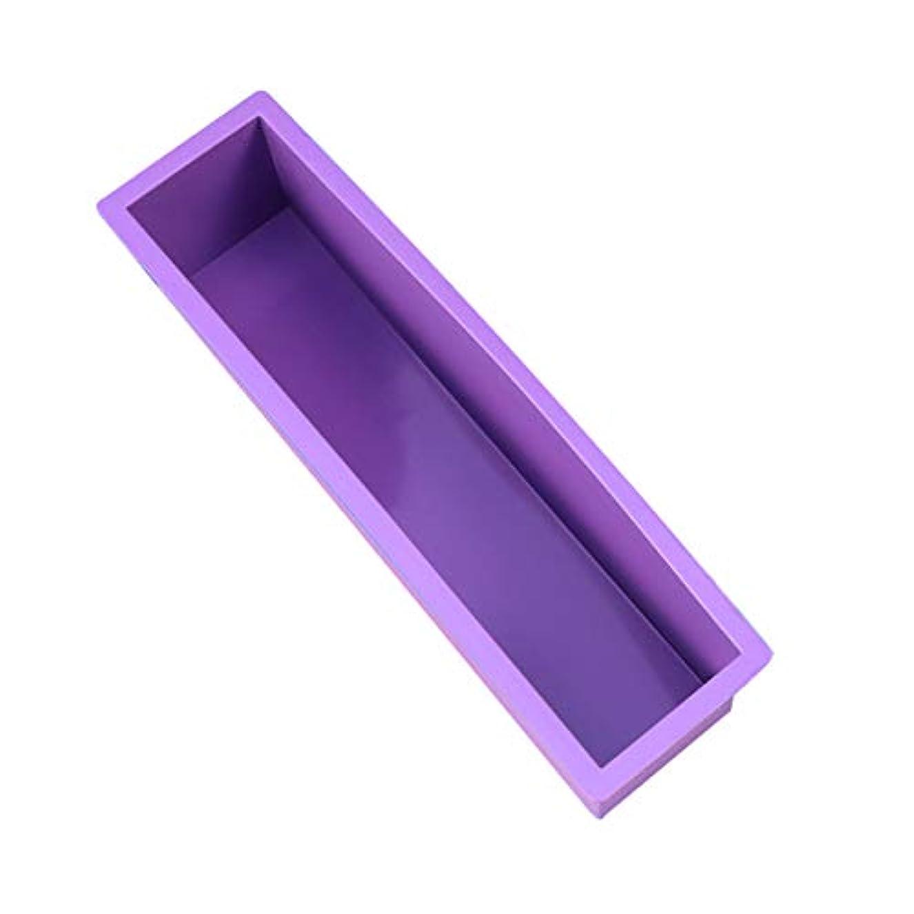 アマゾンジャングルパラメータ器具Healifty DIYの石鹸金型スクエアラウンドオーバル金型木製ボックスサイズなしの手作り金型 - S(紫)