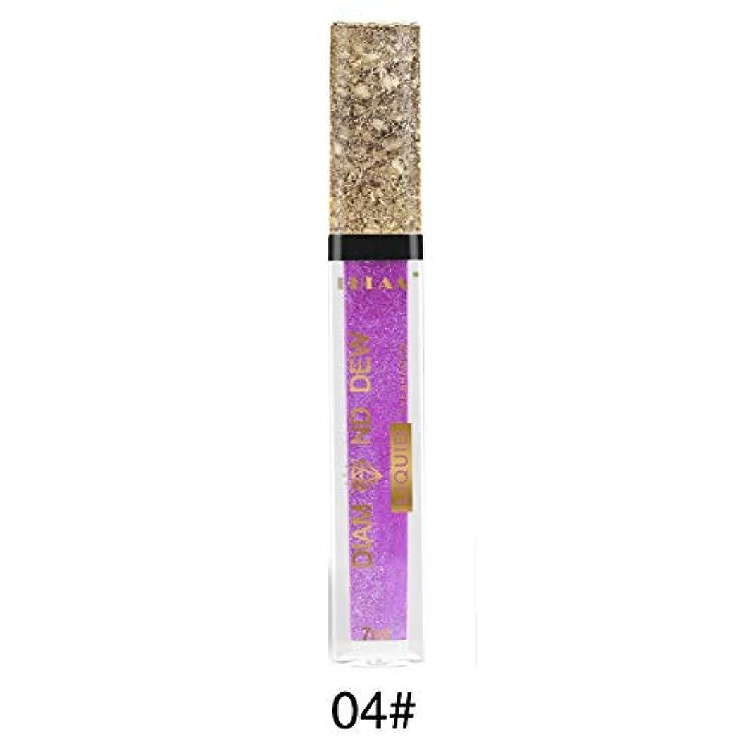 トリプル行為グラフィックKISSION 角筒アイシャドウ 小型でポータブル パールフラッシュアイシャドウ シャイニーリキッドアイシャドウ 真珠光沢のあるアイシャドウ 強い光沢