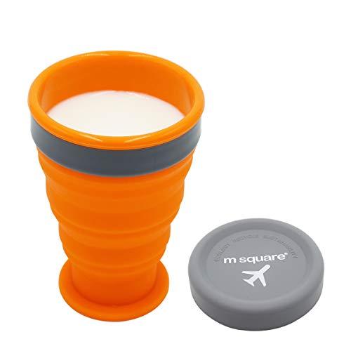 Setokaya カップ 折りたたみ式 シリコン カップ アウトドア 携帯 キャンプ用 ハイキング 旅行 マイクロ波加熱対応 ZDB-01 (オレンジ, 200ml)
