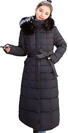 ダウンコート ロング ダウンジャケット ロングダウンコート レディース 中棉 フード付き 軽量 防寒 (L, ブラック-5)