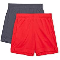 Athletic Works Girls 2 Pack Active Mesh Shorts
