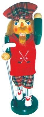 Golfer In Plaid Holdingゴルフクラブ木...