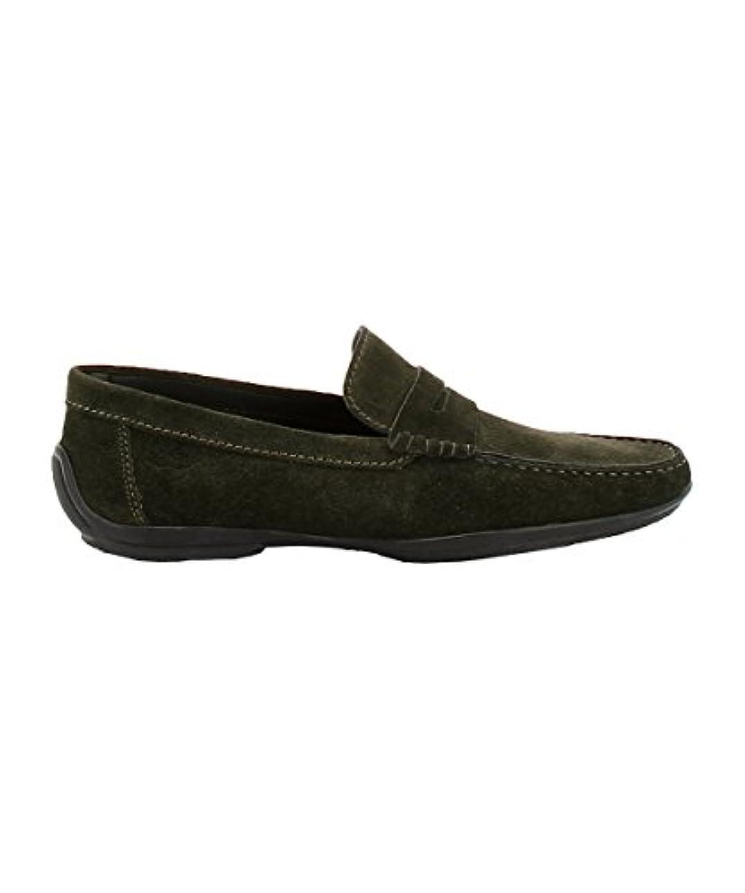 忠実に修道院電池Longhi メンズ 169001VERDEO グリーン セーム 布鞋