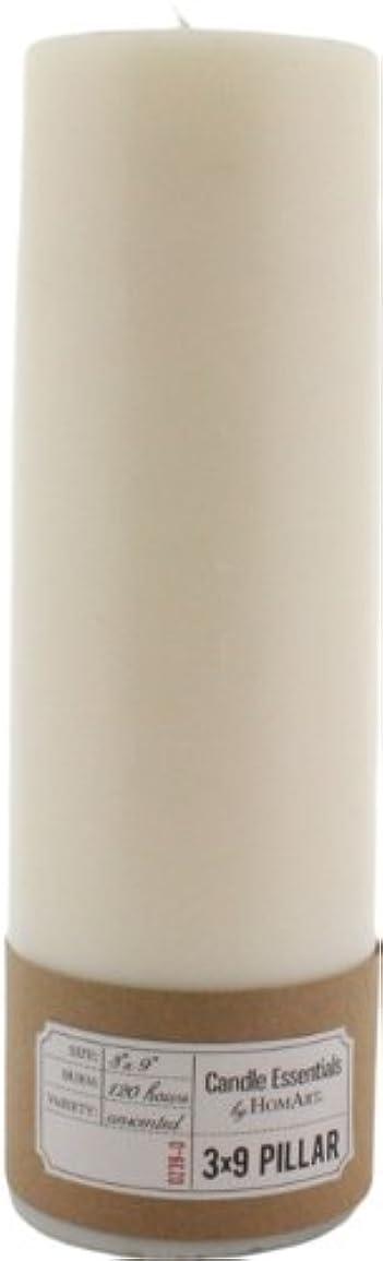 副産物異なる野ウサギHomArtピラー3 x 9 (アイボリー) 3-Inch by 9-Inch 0239-0