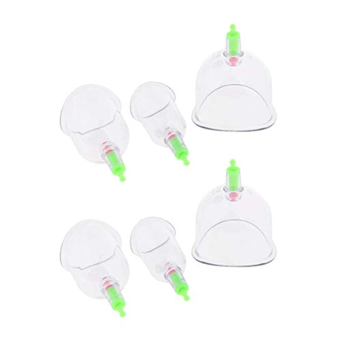 踊り子シャーウサギsharprepublic 吸い玉 カッピングセット 吸い玉カップ プラスチック製 マッサージ 疲労軽減 6個入り