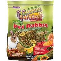 F.M.Brown's Tropical Carnival Natural Rabbit Food, 4-Pound Package by F.M. Brown's