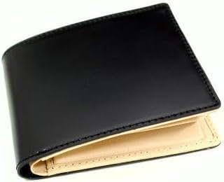 コードバン(馬尻革)×本ヌメ革サイフ(BOX型小銭入付二つ折財布) ブラック
