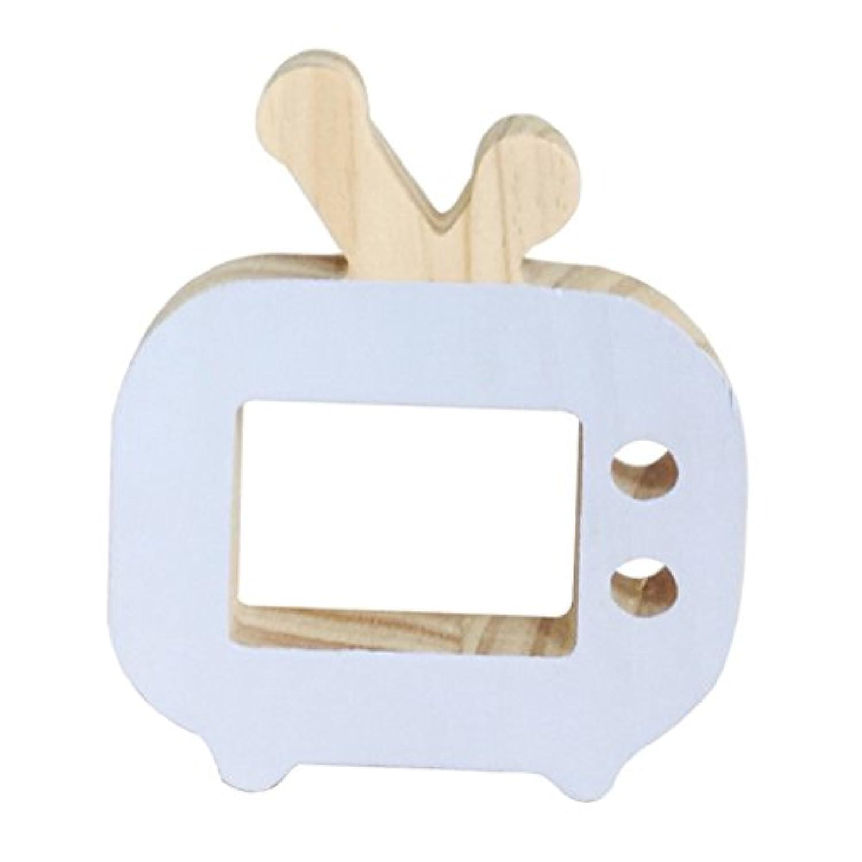 super1798 Cartoon Wooden ToysクリエイティブミニテレビOrnaments子供部屋装飾アクセサリー 5.12