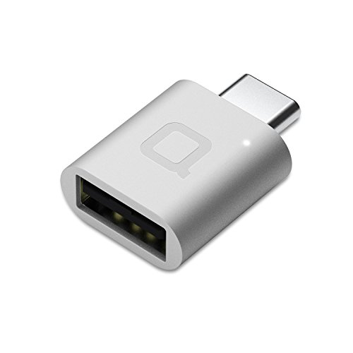 nonda USB-C & USB-A3.0(USB-A to USA-C交換アダプタ)アルミニウム合金製・LEDインジケーター付 ・OTG対応/Macbook Pro 2016、MacBook 12-inch、Nexus 5X、Nexus 6P、ChromeBook Pixel OnePlus 2他Type-C 機器対応(シルバー)