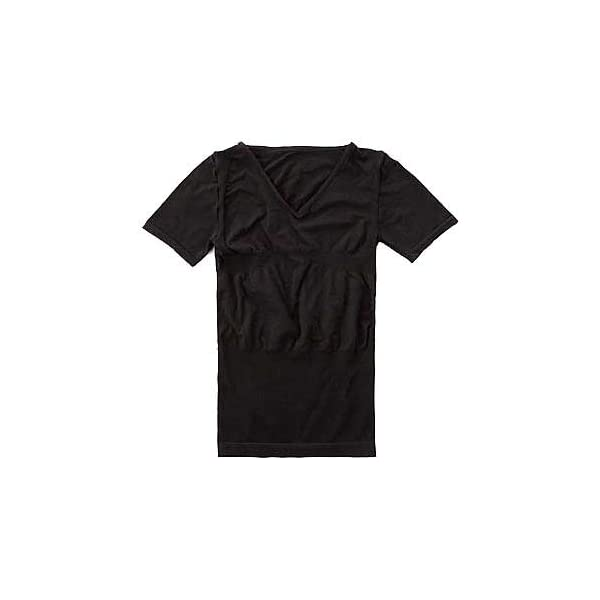 ホットアルファ加圧メンズトップス 半袖 ブラック/Lの商品画像