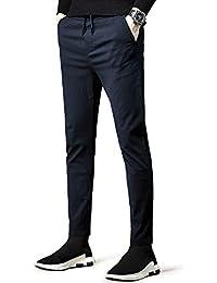 NEWHEY チノパン メンズ スキニーパンツ スーパーストレッチ スウェットズボン カジュアル 旅行 運動向き 美脚 細身デザイン 大きいサイズ 秋 冬 裏起毛 ブラック ネイビー グレー