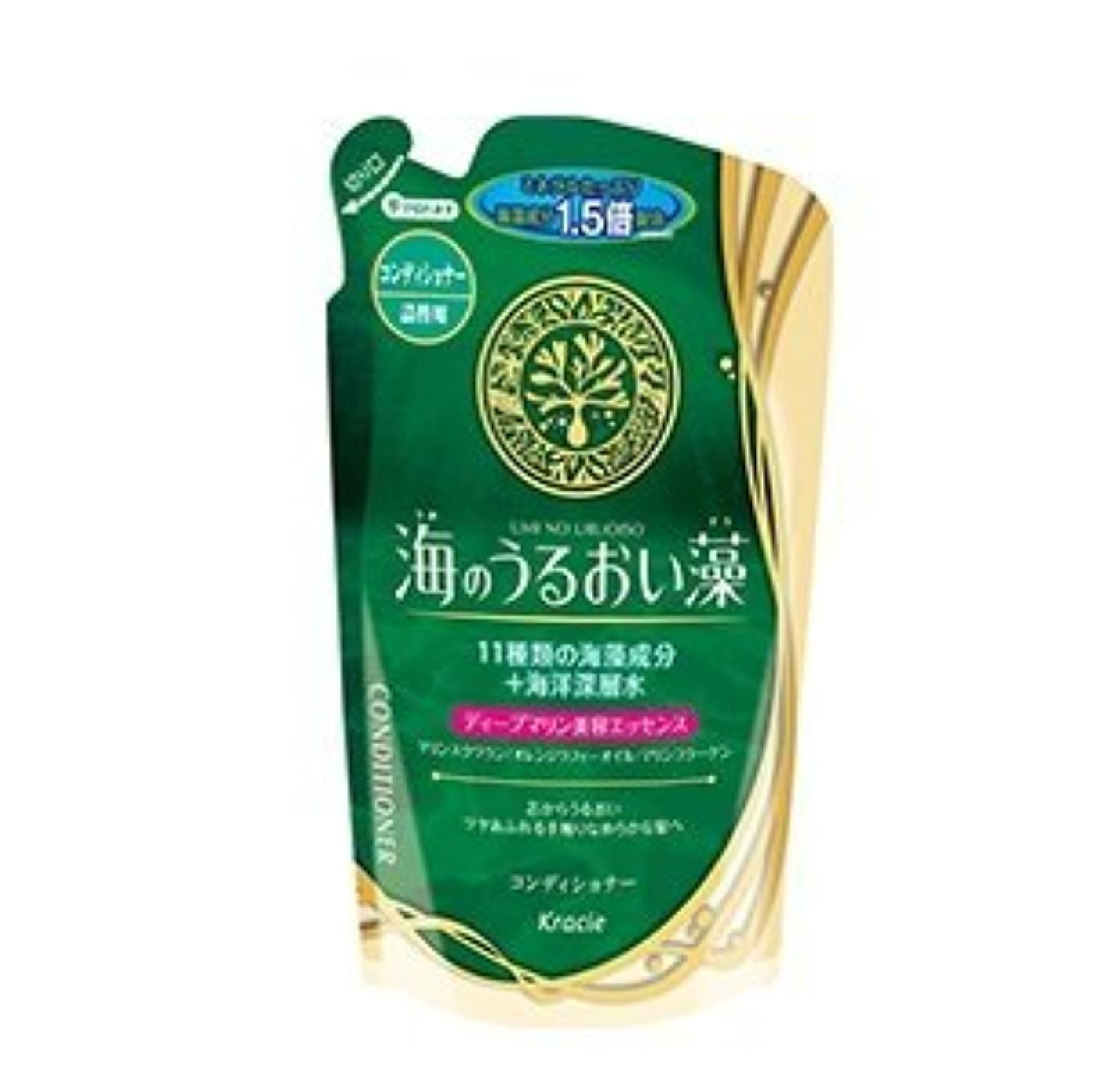 台風結果懸念【まとめ買い】海のうるおい藻 コンディショナー 詰替用 420mL ×2セット