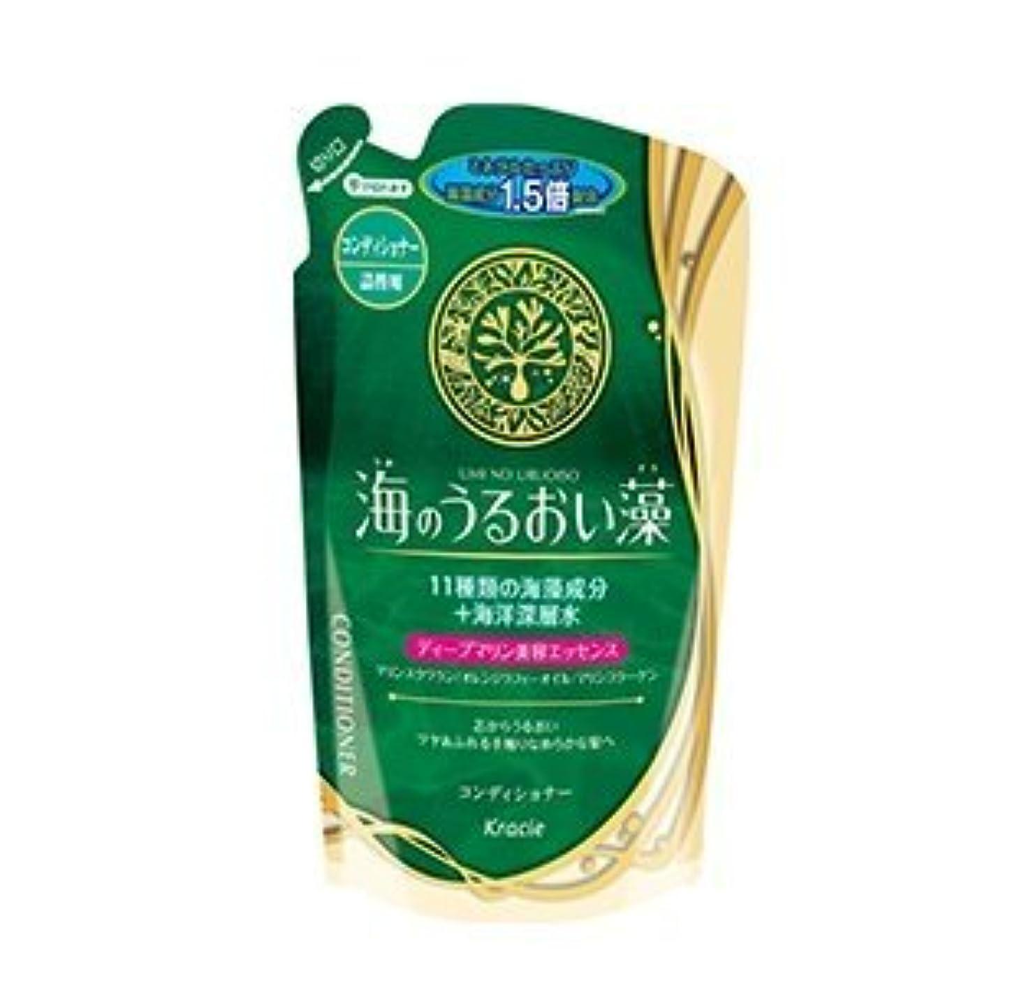 もろいセンチメンタル広範囲【まとめ買い】海のうるおい藻 コンディショナー 詰替用 420mL ×2セット