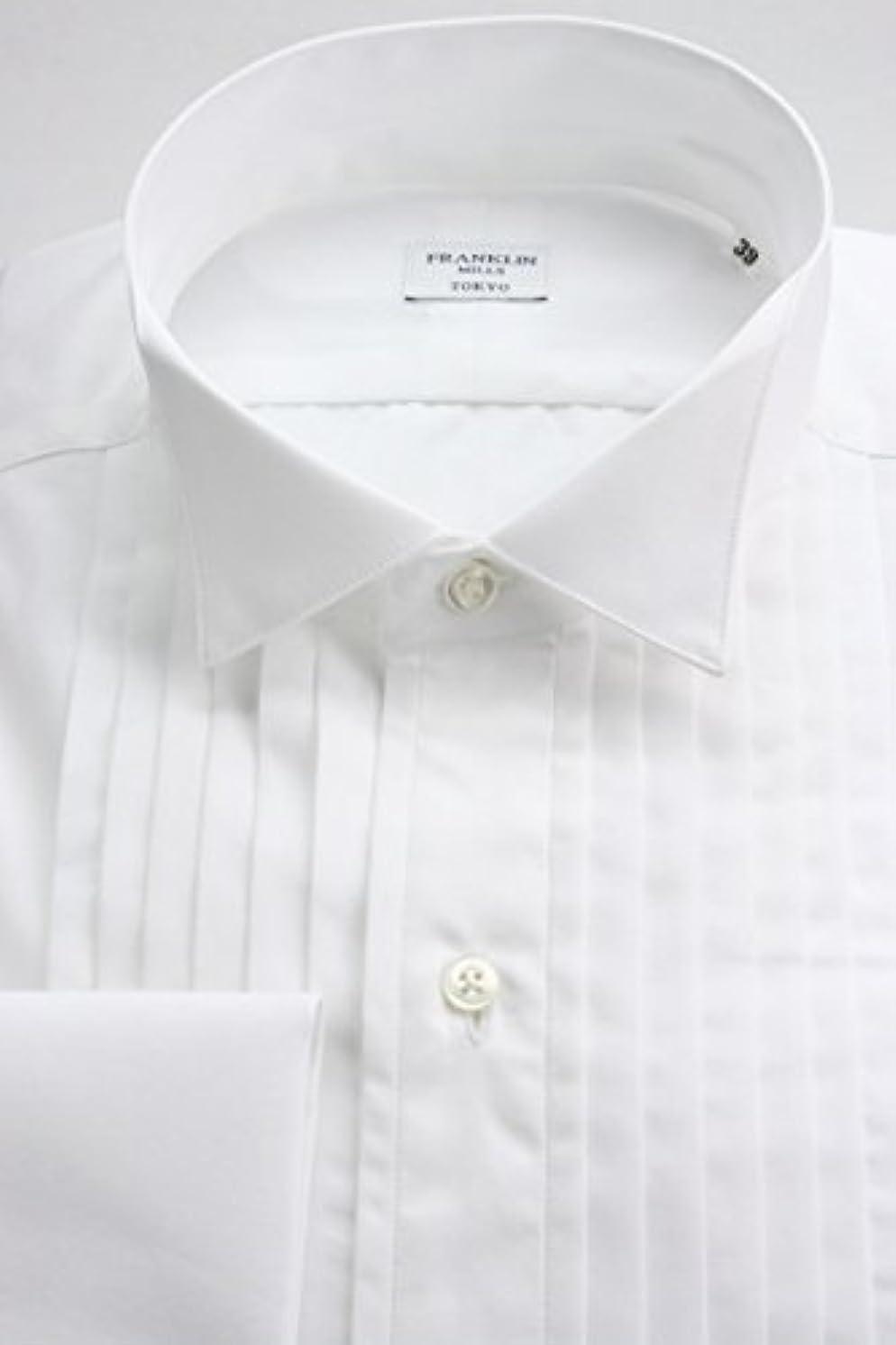 登場グレーフルーティー(フランクリンミルズ) FRANKLIN MILLS ブロード100双のウィングカラー シャツ 白無地 100番手双糸ブロード 綿100% 日本製 Italian Slim ot4530