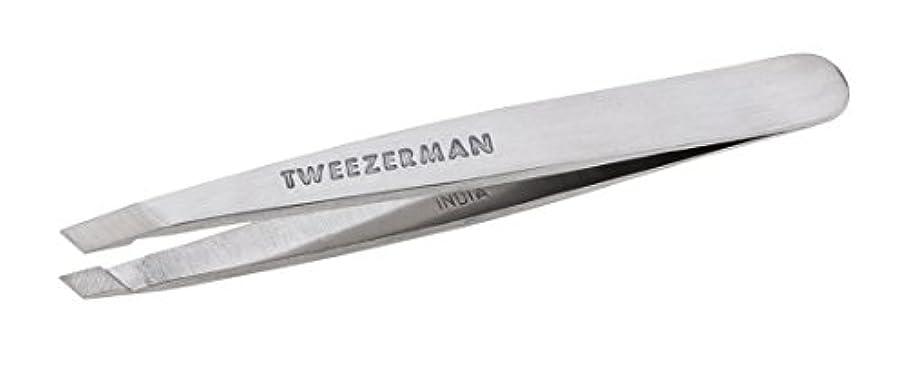 テンポ本質的ではない賛辞Tweezerman Classic Stainless Steel Mini Slant Tweezer