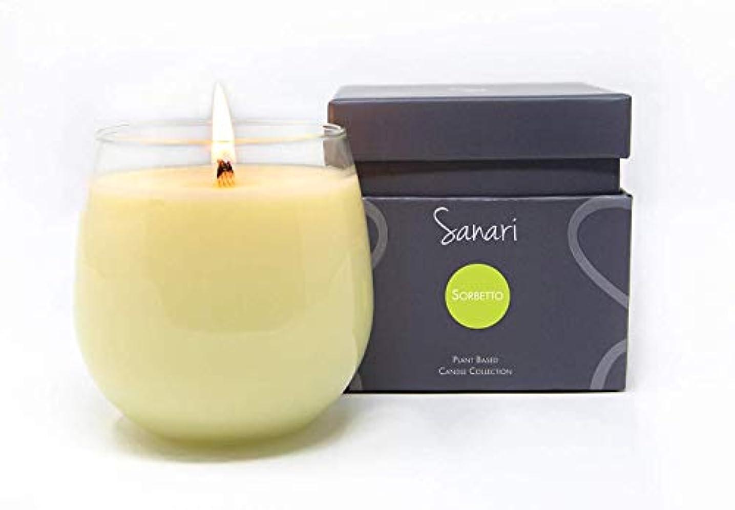 ストレス甘美な麻痺させるSanari Candle Biscotti – Vanilla Bean、ナツメグ、シナモン 16 oz