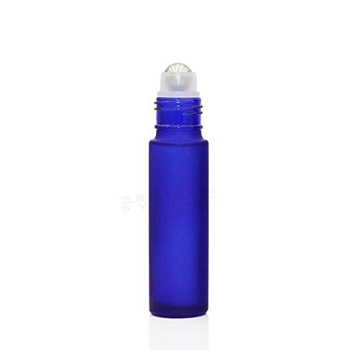 肘掛け椅子ポーンインチgundoop ロールオンボトル アロマオイル 精油 小分け用 遮光瓶 10ml 10本セット ガラスロールタイプ (ブルー)