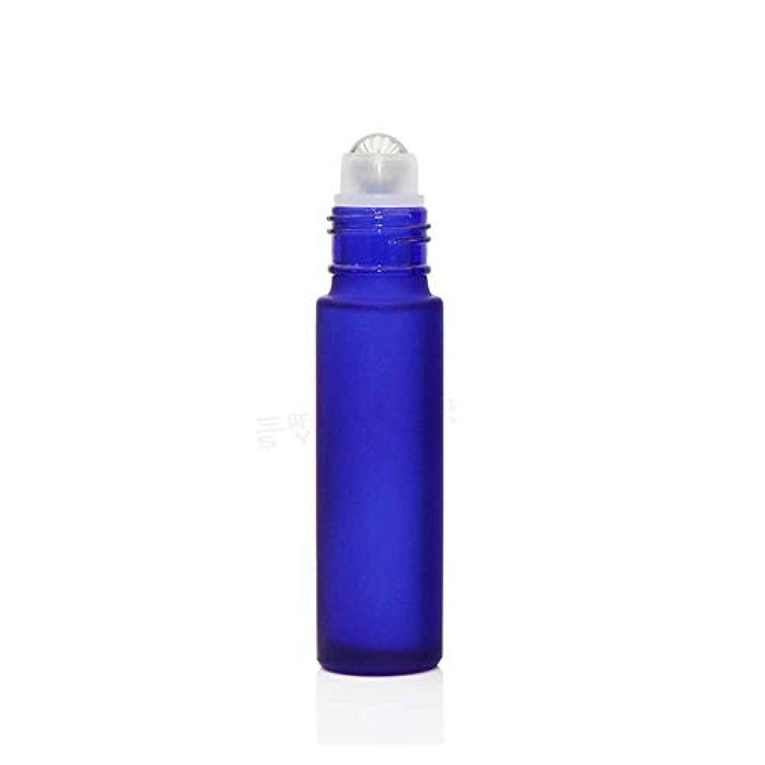 定説ギャザー雄大なgundoop ロールオンボトル アロマオイル 精油 小分け用 遮光瓶 10ml 10本セット ガラスロールタイプ (ブルー)