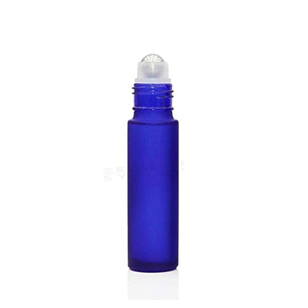 繁殖リム驚いたことにgundoop ロールオンボトル アロマオイル 精油 小分け用 遮光瓶 10ml 10本セット ガラスロールタイプ (ブルー)
