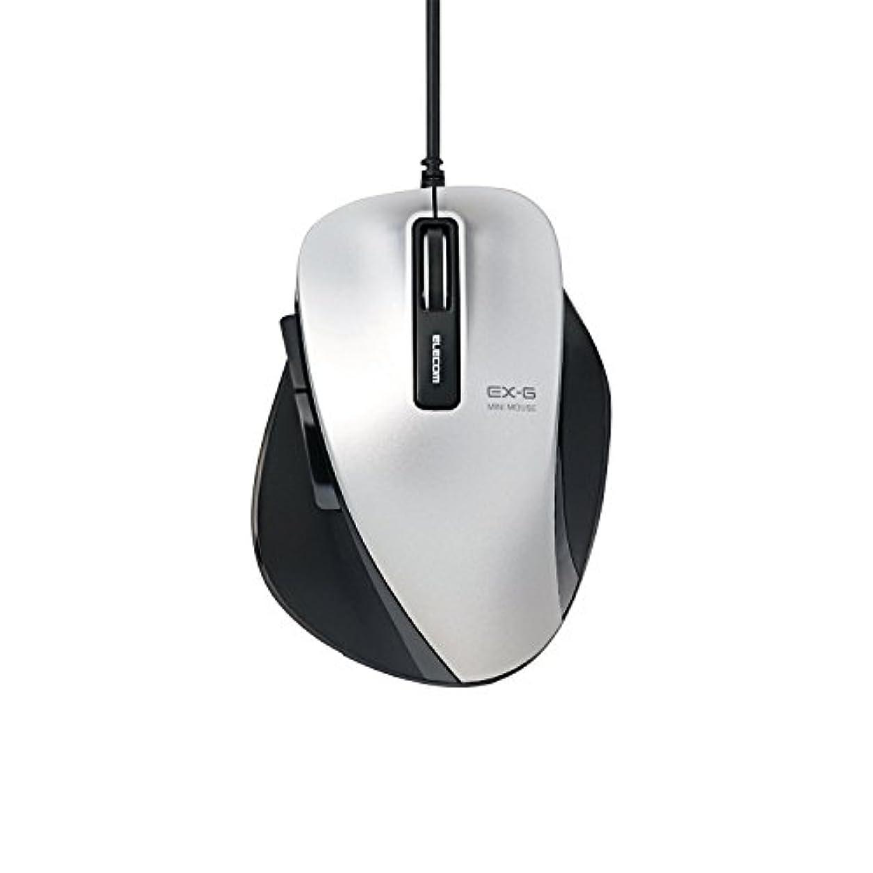 縮れた食堂受賞【2014年モデル】ELECOM マウス 有線 BlueLED 5ボタン Sサイズ シルバー M-XG4UBSV