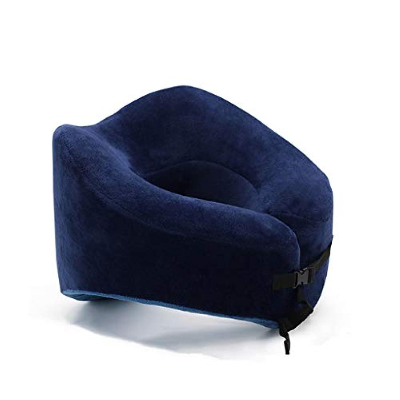 返済ソロ代理人DYHOZZ 記憶泡旅行首の枕、コンパクトなU字型首の枕サポート枕、携帯用首の枕多色刷り U字型の枕 (色 : D)