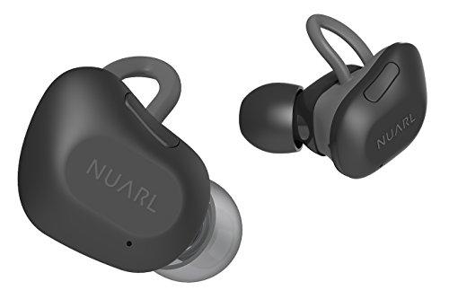 NUARL Bluetooth5 完全ワイヤレスイヤホン NT01:左右分離型 5時間再生 重さ5g 高音質HDSS IPX4耐水 自動再接続 マイク付 マットブラック NT01-MB