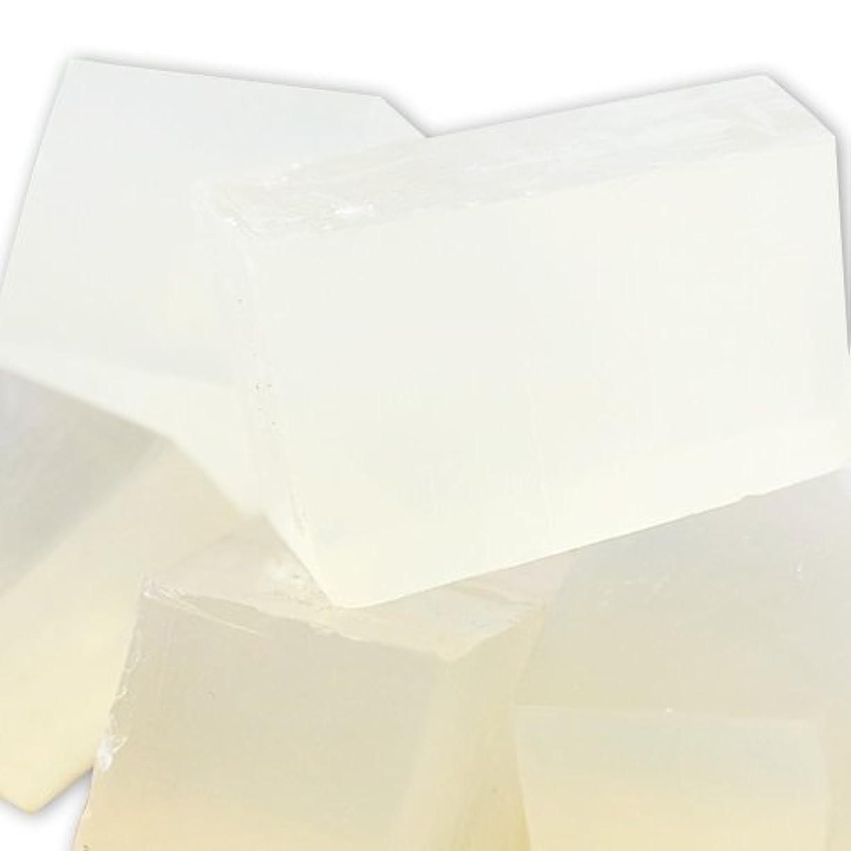 記憶忠実減るMPソープ [グリセリンソープ] クリア SLSフリー 1kg 【手作り石鹸/ハンドメイドソープ】